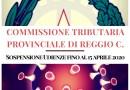 Commissione Tributaria Provinciale Reggio Cal. – Sospensione Udienze fino al 15.04.2020 e rinvio d'ufficio