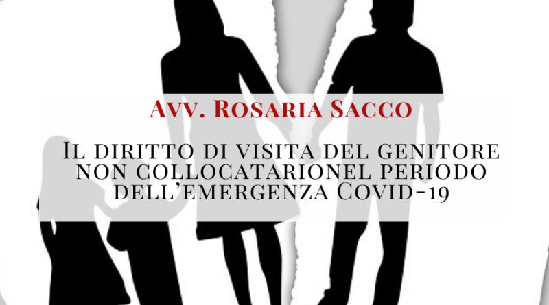 Il diritto di visita del genitore non collocatario nel periodo dell'emergenza Covid-19