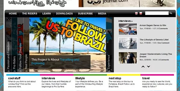 follow the winds blog in magazine format
