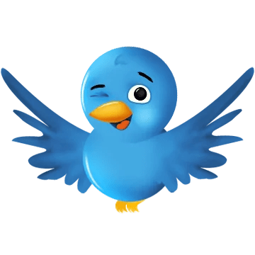 image of a small bird chirping, symbol of Twitter
