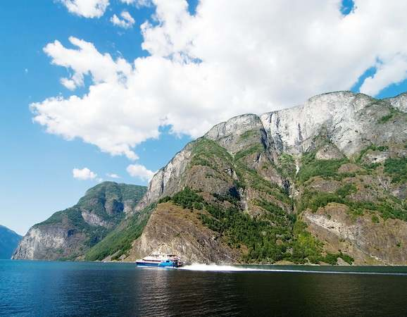 Norway Fjord Scenic with Ferry