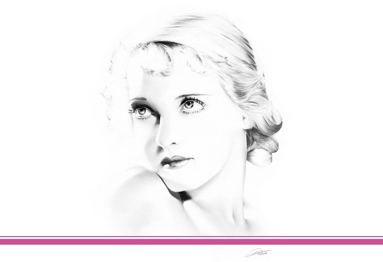 minimal Zeichnung Betty Davis