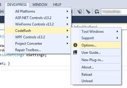 DevExpress CodeRush Options
