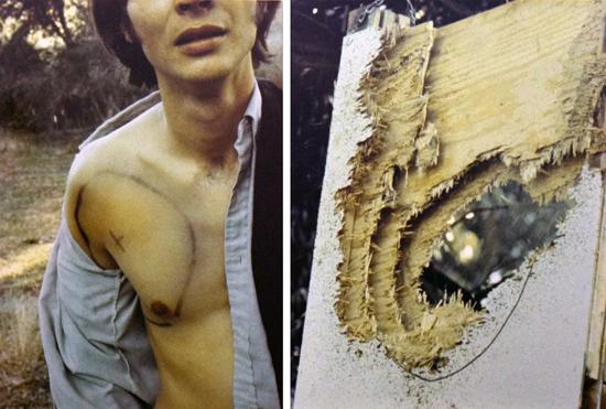Paul Kos, rEVOLUTION (detail), 1970. Performance documentation. di Rosa collection, Napa.