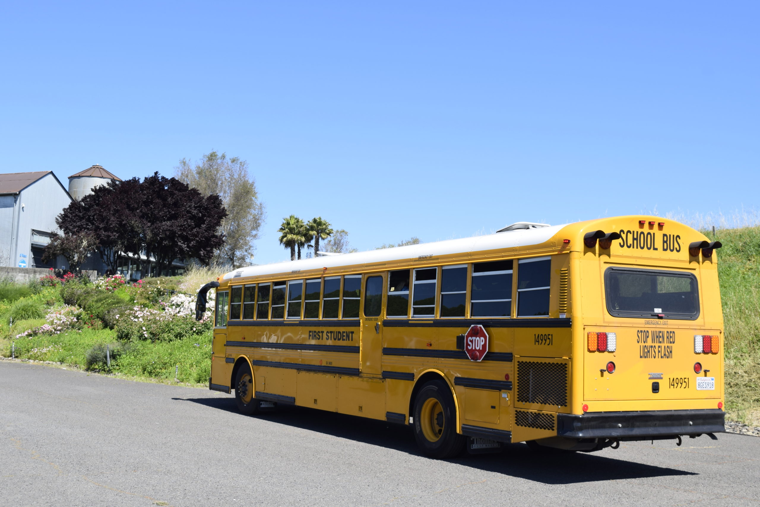 Yellow Schoool Bus in front of di Rosa's Gallery 1