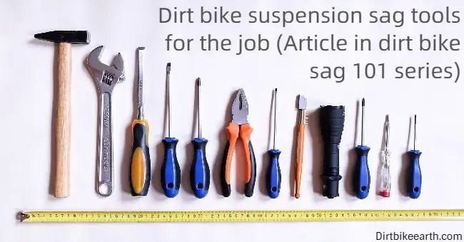 Dirt bike suspension sag tools for the job - Article in dirt bike sag 101 series