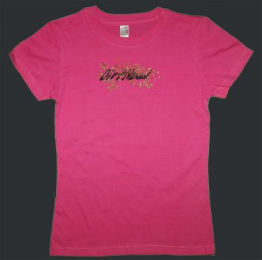 Womens DirtHead Puffy Hot Pink Tee