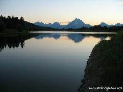 Grand Teton Oxbow Bend at Sunset