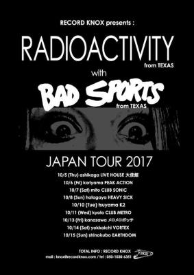 Radioactivity And Bad Sports Japanese Tour Poster