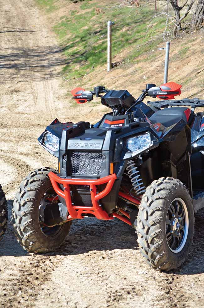 Dual A Arm Front Suspension Is Found On Both Machines With An Equal 9 Inches Of Travel For Casual Trail Riding The Standard Shocks Will Do
