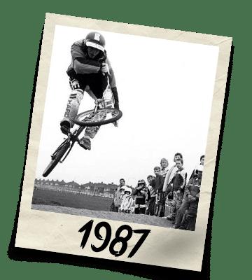 Dirtworks BMX's Phil Hudu Charnley Polaroid - 1987