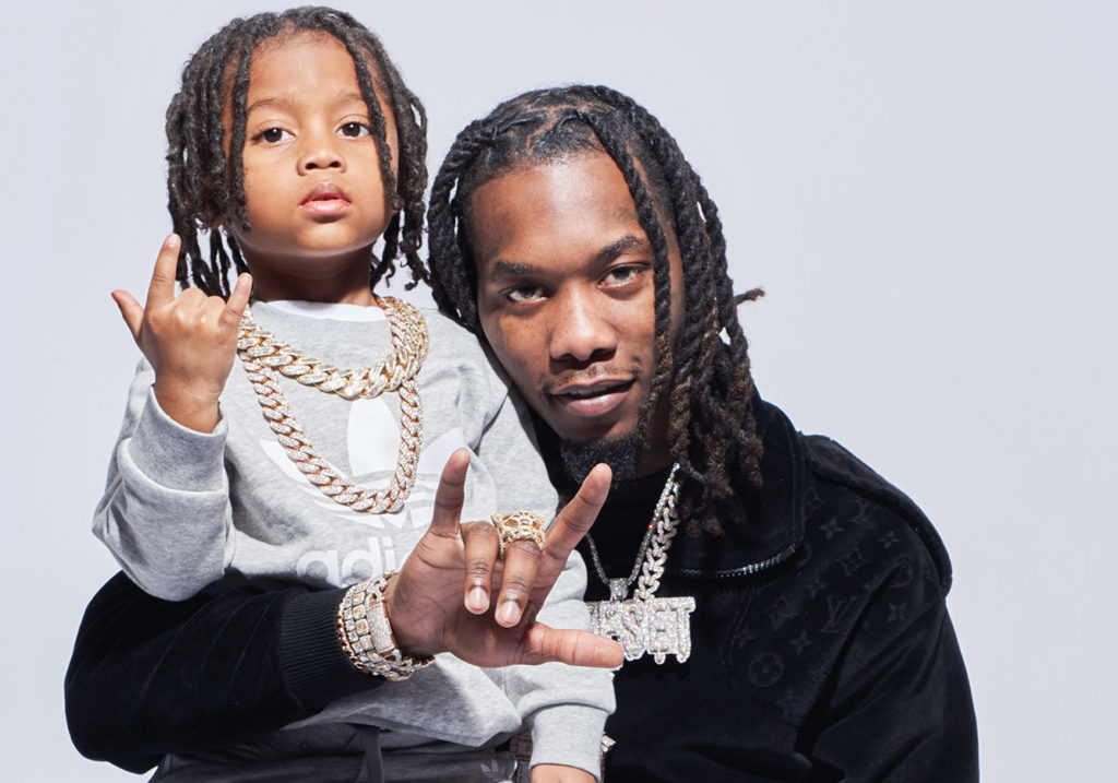Offset and his son.
