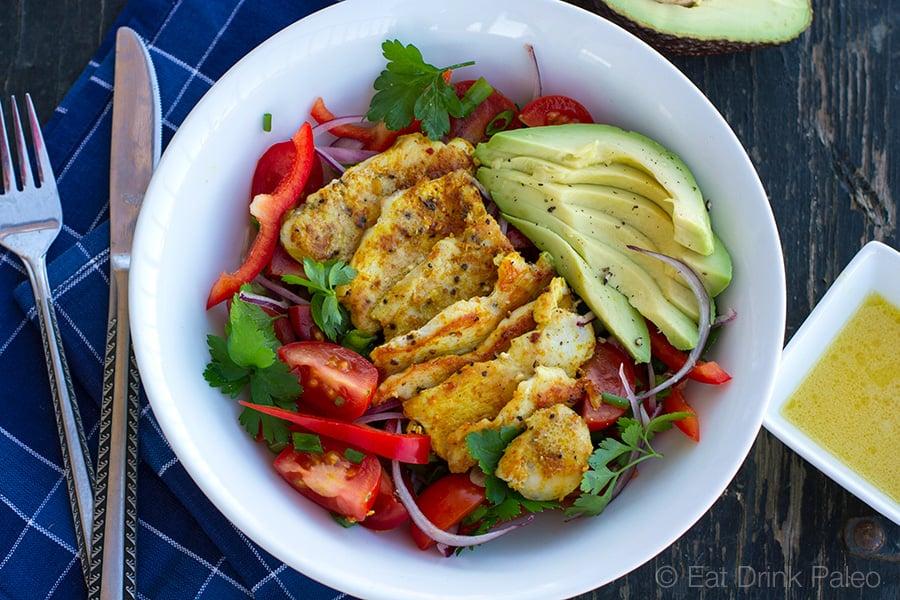 warm-chicken-avocado-salad