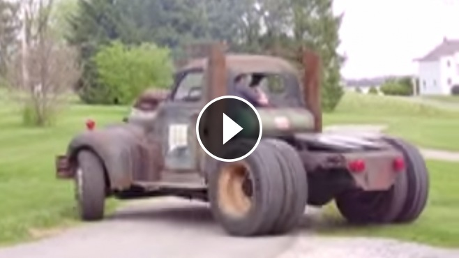 V12 Detroit Diesel Powered Badass Rat Rod Hits The Road