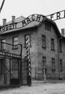 auschwitz: entrata del campo di concentramento