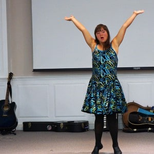 Jericka-Lyn dances at the 2014 Family Retreat