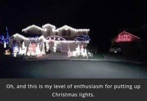 Christmas photo of house lights.