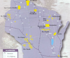 Map of Wisconsin Tribes