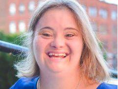 Kayla Mckeon smiling
