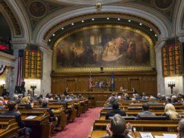 Wisconsin legislature at state capitol