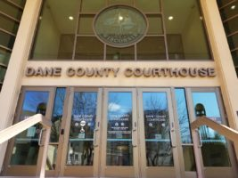Front doors of the Dane County Courthouse