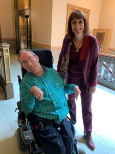 Ramsey Lee and Barbara Beckert at the Wisconsin State Capitol