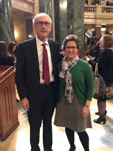 Governor Evers and DRW Executive Director Lea Kitz