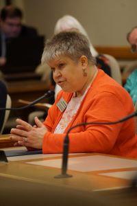 Denise Jess testifying at public hearing