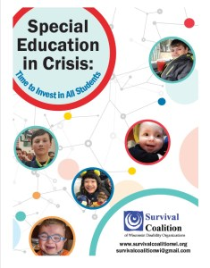 Special Education in Crisis: Time to Invest in All Students - report cover with images of children