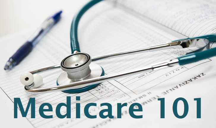Medicare 101: Stethoscope laying on top of medical records