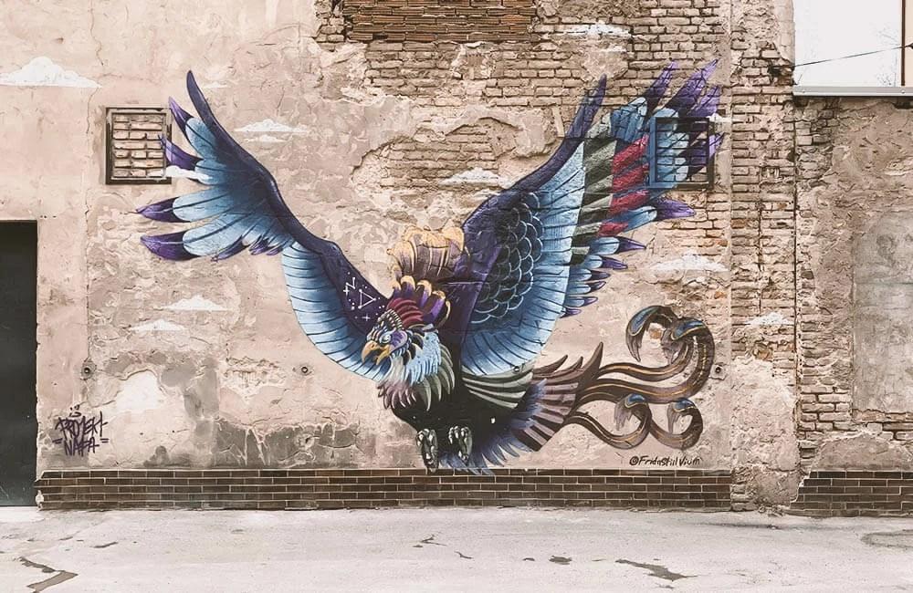 Street art a Praga - Opera di NADA in Holesovice