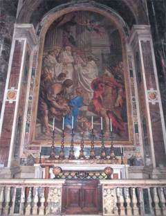 St. Basil the Great Altar at. St. Peter's in Rome
