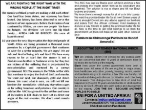 Antiwhite BLACKWASH pamphlet urging blacks to attack SETTLERS instead of fellow blacks Andile Mnxgama_thumb[3]
