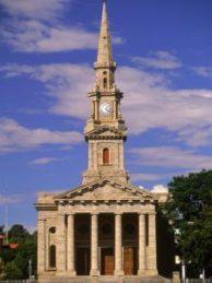 Dutch Reform Church in Craddock (Masonic entrance - Triangle roof with Pillars)