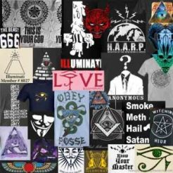 Illuminati Clothing collage