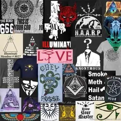 Illuminati Clothing collage