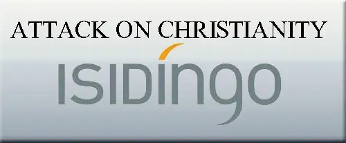 Isidingo – logo- attack on christianity