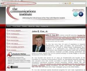 John E Cox - The Communications Institute