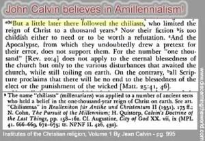 JohnCalvin-Amillennialism-InstitutesOfTheChristianReligionVol1