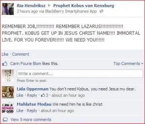 Kobus Van Rensburg - RIP like Christ