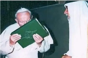 Pope kissing Koran