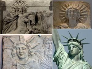 Statute of Liberty as goddess