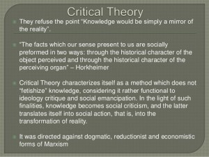 Critical Theory Goals