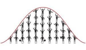 People Bell Curve Illustration