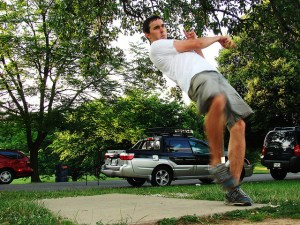 disc golf follow through