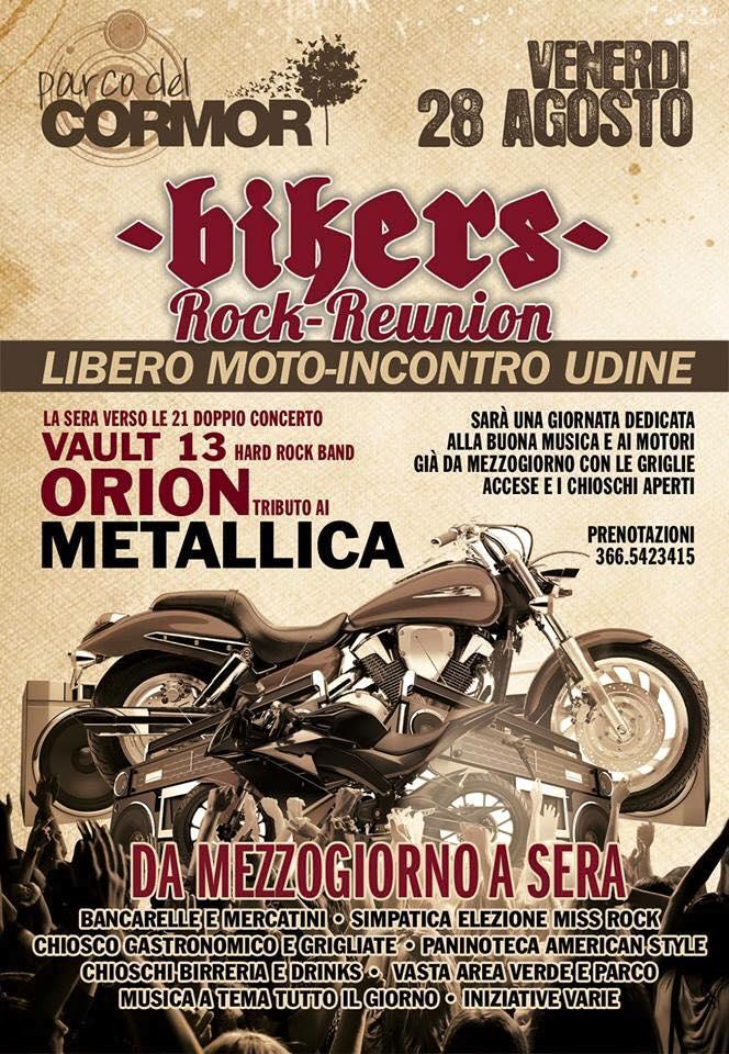 28.08.2015 – Moto Incontro a Udine con tributo Metallica