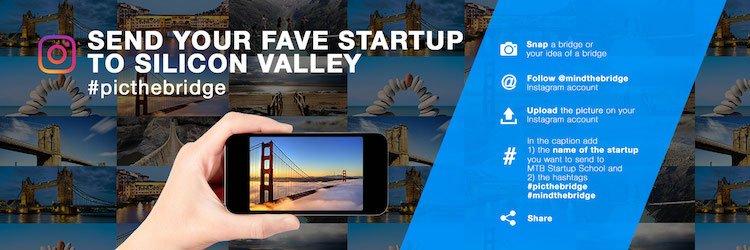 Lanciato oggi l'Instagram Contest per vincere la MtB Startup School in Silicon Valley