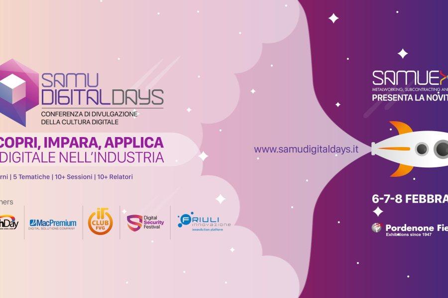 La cultura digitale per le aziende a SamuExpo Pordenone con Samu Digital Days