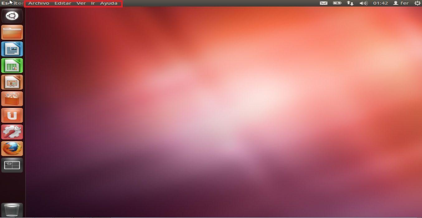 ubuntu 12.04 TLS menu escritorio