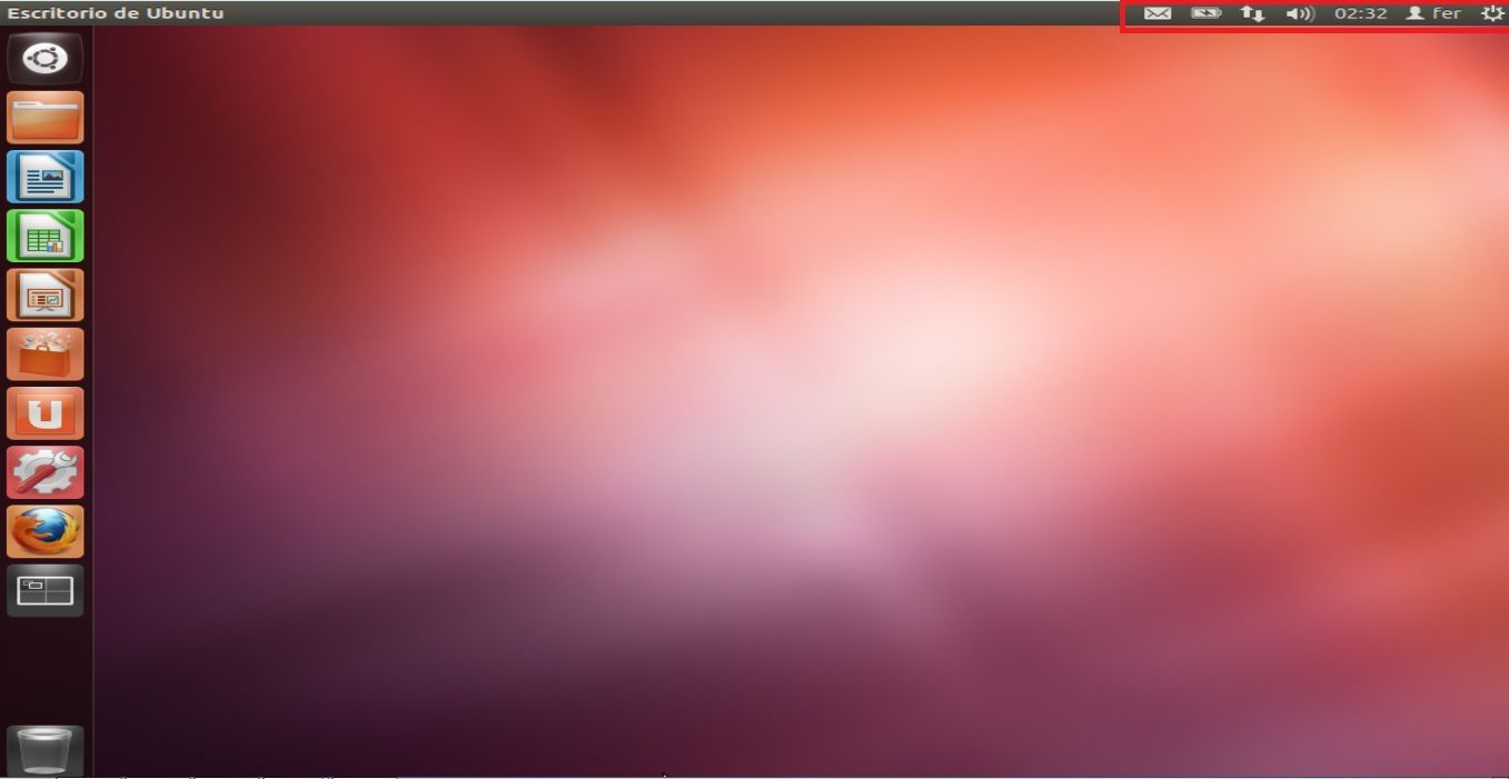 ubuntu 12.04 TLS menu principal